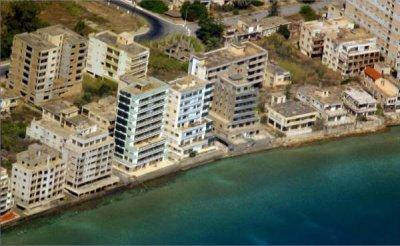 La cité fantome de Varosha,  sur la côte est de Chypre.