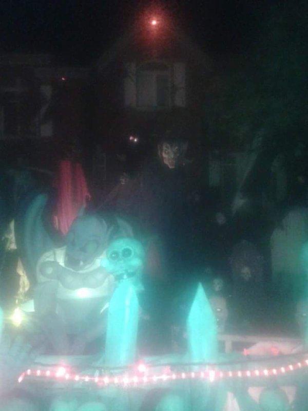 maison décorer pour lhalloween