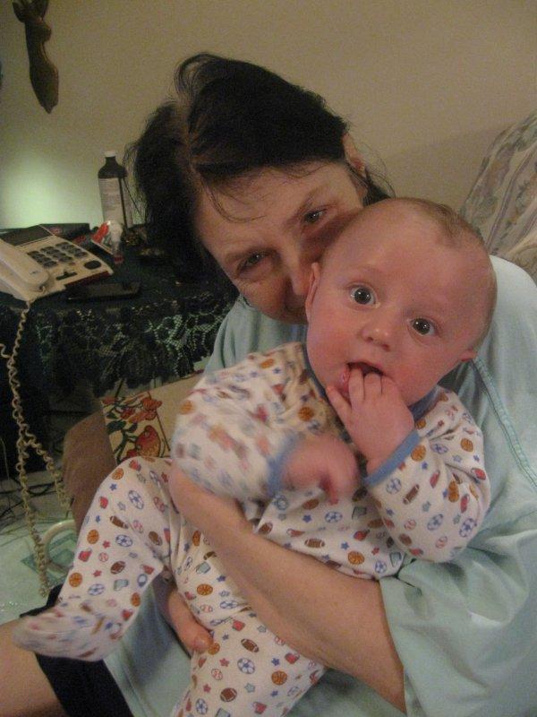 photo avec mon petit cousin alexis