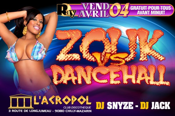 ☆ VENDREDI 4 AVRIL ☆ DJ VIELO & AMIGOS ☆ ZOUK VS DANCEHALL ☆