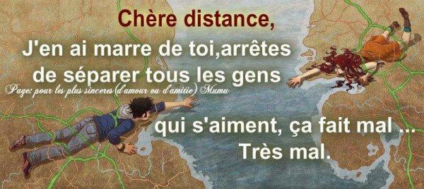 La distance !