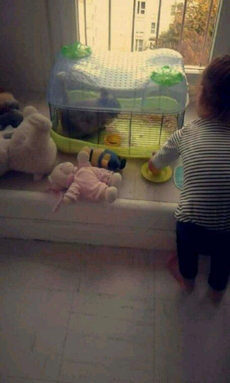 Lili avec son lapin ezia