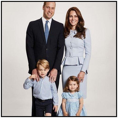 William, Catherine, George et Charlotte de Cambridge