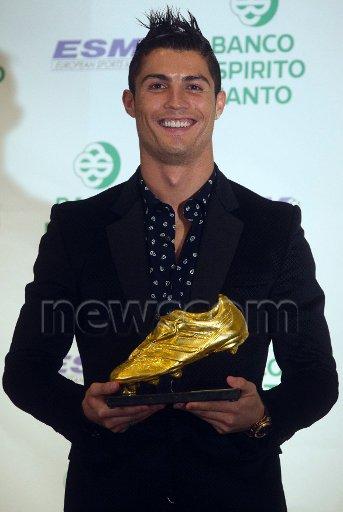 Cristiano Ronaldo reçoit Golden Boot