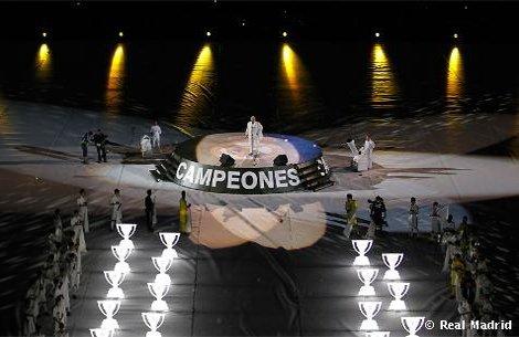 """campeones """" real madrid """"  hala madrid"""