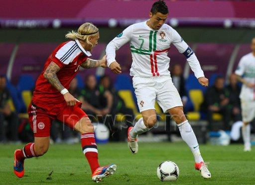 c.ronaldo vs denmark euro 2012