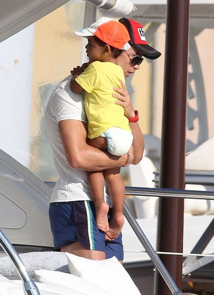 Real Madrid soccer star Cristiano Ronaldo vacations  with his girlfriend Irina Shayk and his son
