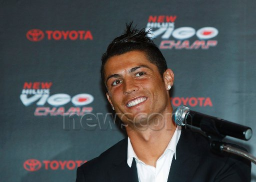 cristiano ; I'm very proud to continue being part of the Toyota family. It's always great the way that they receive me