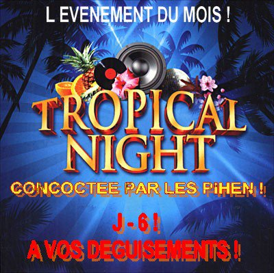 SOIREE TROPICALE EN PREPARATION !