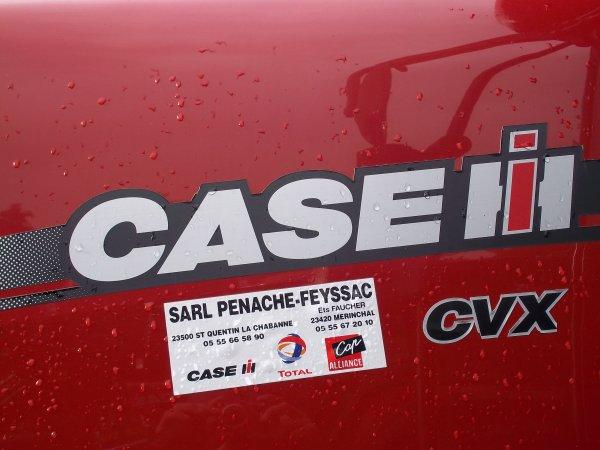 Case ih CVX 140 et pulvé amazone 15 m
