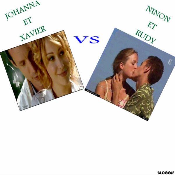 JOHANNA ET XAVIER   VS    NINON RUDY