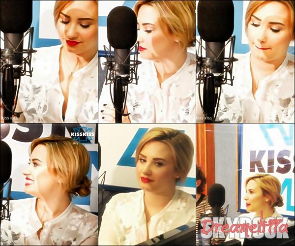 04-06-2013: Demi L. s'est rendue dans les locaux de la radio Kiss Kiss à Milan, en Italie. TOP/BOF/FLOP? Perso c'est un TOP, Demi est vraiment magnifique.