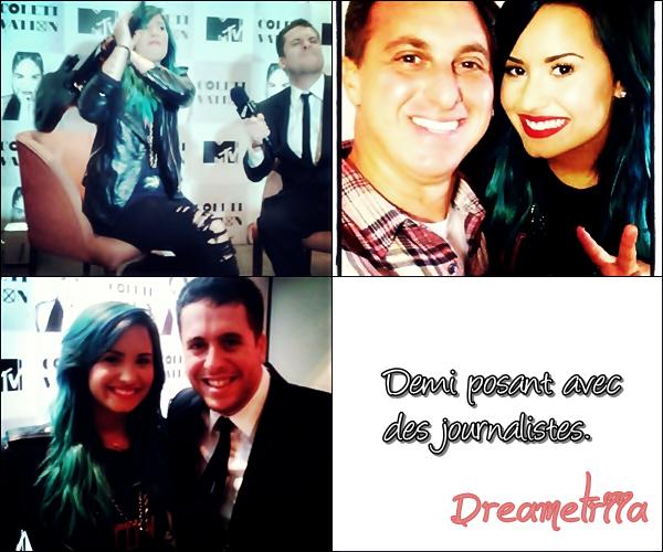 14-10-2013: Demi a salué ses fans au balcon de son hôtel à Sao Paulo, au Brésil. TOP/BOF/FLOP? Perso, c'est un Top, elle est raillonante.