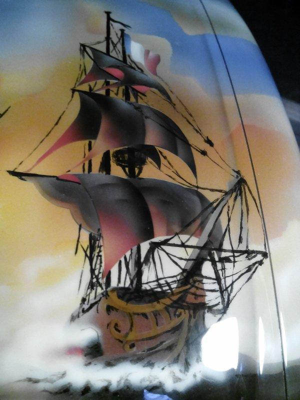 retour de peinture de la cabine et montage de l'ensemble : face avant et dessus