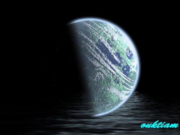 la terre en noir