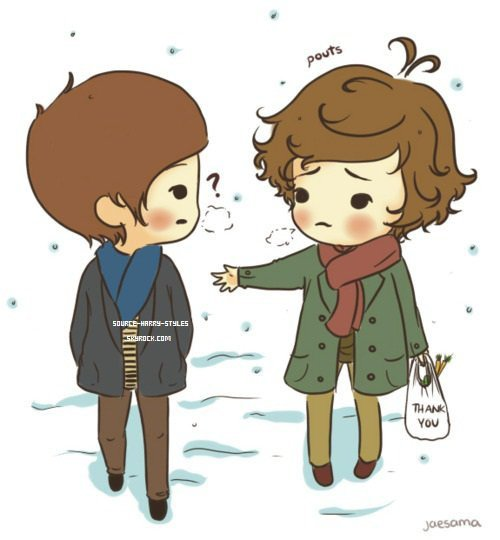 Louis et Harry en dessin .