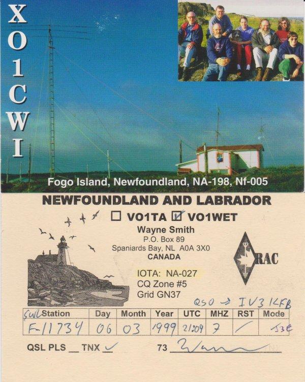 VO1-----------NEWFOUNDLAND