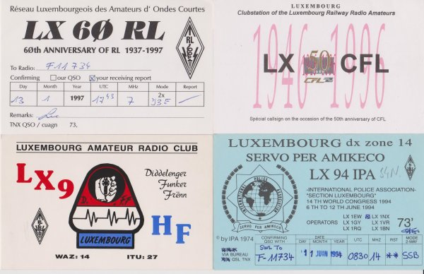 LUXEMBOURG INDICATIFS SPECIAUX / EXPEDITIONS