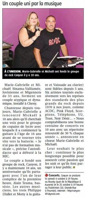 10 ans déjà (Article Yonne Républicaine du 18/09/14)
