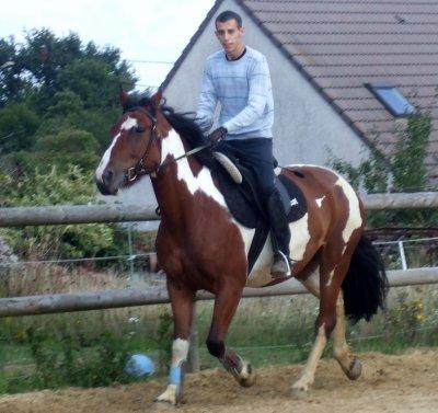 Moi en mode équitation