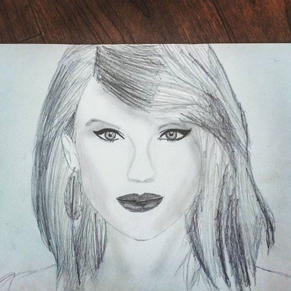Dessin de Taylor Swift