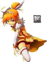 fille orange