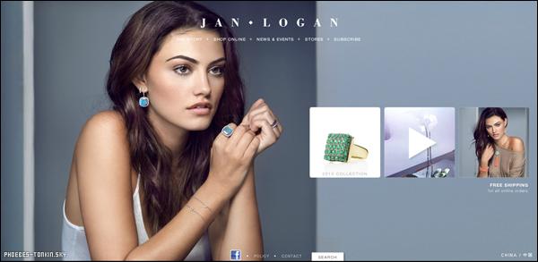 """Voici un photoshoot pour lequelle Phoebe a posé pour """"Jan Logan Jewellery"""". ♥"""