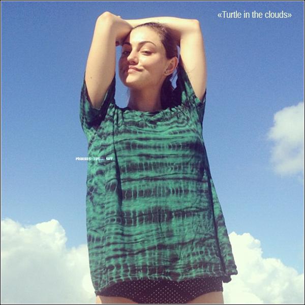 Message et la photo qu'a posté Phoebe sur son compte instagram. ♥