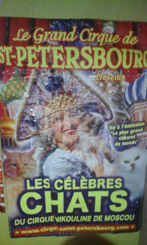 affiche murale cirque st Pétersbourg  lors de son passage a cherbourg