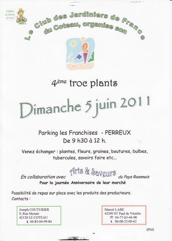 TROC PLANT ANNUEL :  vous voulez échanger vos plants ? alors n'hésitez plus....+ marché du vendredi