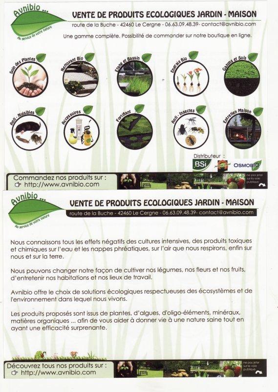 produits écologiques jardin-maison