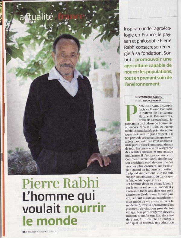 Pierre RABHI, un homme formidable