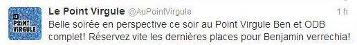 Olivier de Benoist présente son nouveau spectacle au Point Virgule (Paris) cet été