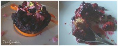 Muffins tofu soyeux spéculoos et fruits rouges