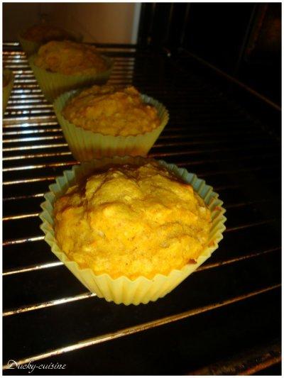 Muffins au potimarron et flocons d'avoine