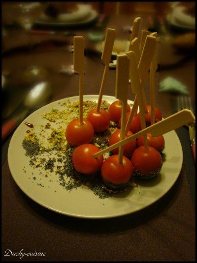 Tomates cerises d'amour aux graines