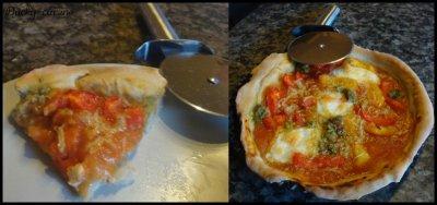 Pizza au pesto et aux poivrons