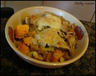Tagliatelles façon carbonnara végétarien (potimarron et tofu épicé)