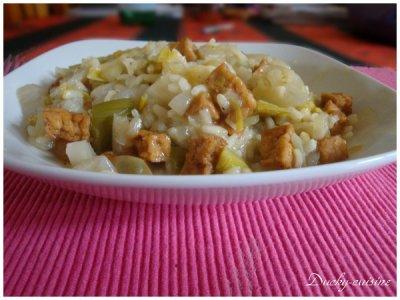 Risotto de chicons et poireaux au curry