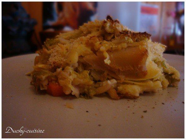 Lasagne au chou vert