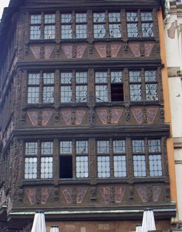 La maison Kammerzell sur la place de la cathédrale à Strasbourg