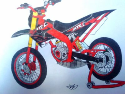 Dessin derbi altec racing berik monster 28 - Comment dessiner une monster high ...