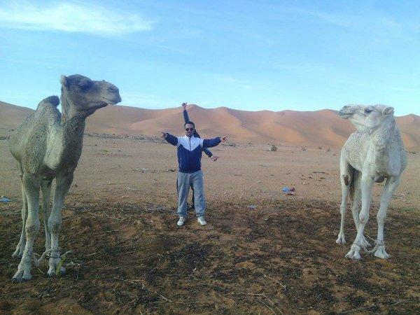 moi au saha de l'algerie