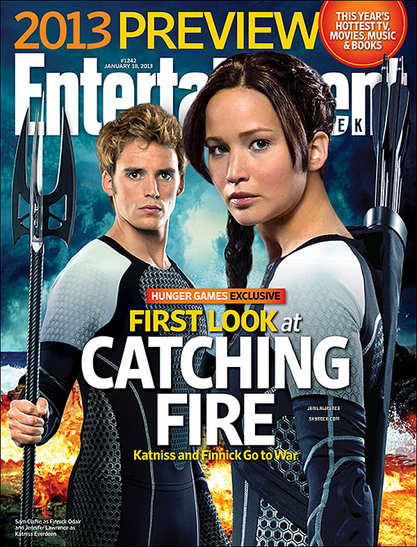 • 09/01/2013 Voici la couverture d'Entertainment Weekly où l'on peut voir un still inédit de Catching Fire •