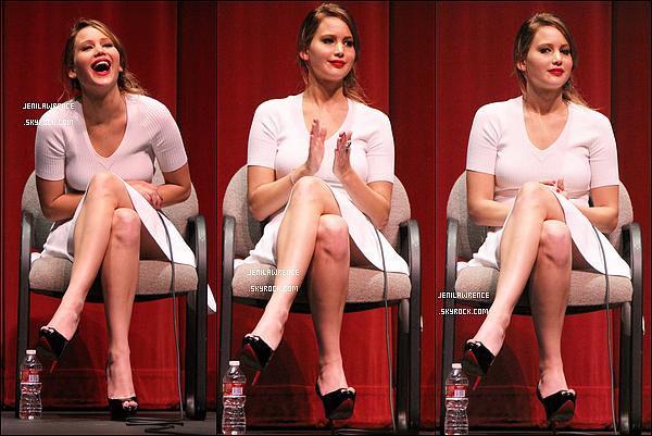 • 10/01/2013 Jennifer a donné une conférence à la projection d'Happiness Therapy organisée par le SAG à Beverly Hills•
