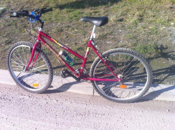 Alors c'est le vélo et ces mon seul moyen de transport pour le moment