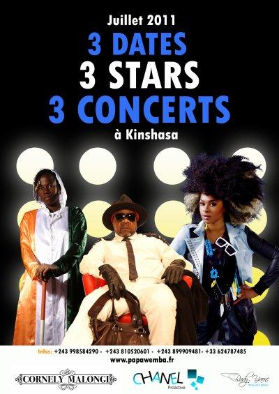 Concerts évènement de Papa Wemba en juillet à Kinshasa.
