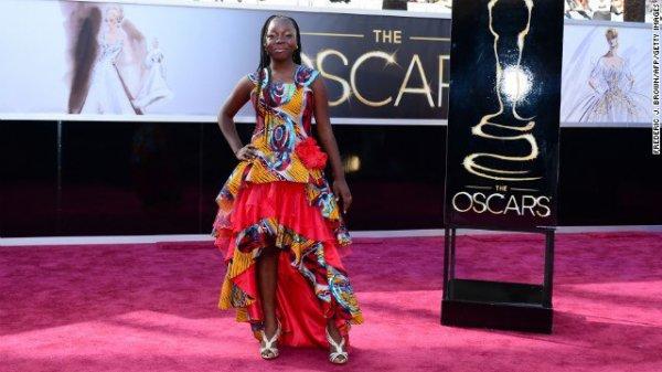 Rachel Mwanza à la cérémonie des Oscars 2013.