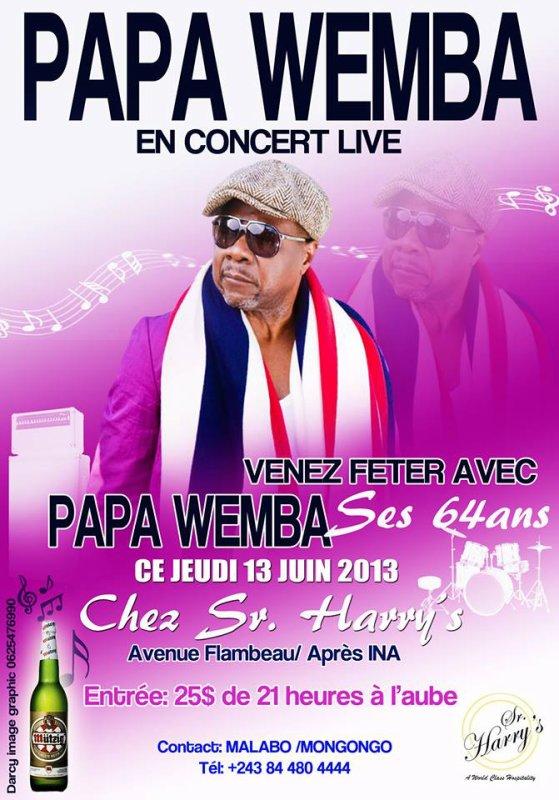 Les 64 bougies de Papa Wemba.