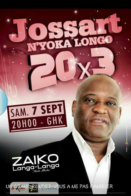 Ce samedi 7.09.2013 Jossart Nyoka Longo fête ses 60 ans au Ghk.